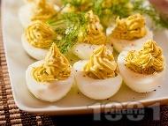 Фаршировани (пълнени) яйца с авокадо, майонеза и горчица